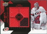 2008/09 Upper Deck Black Diamond Jerseys Quad Ruby #BDJCW Cam Ward /100
