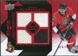 2008/09 Upper Deck Black Diamond Jerseys Quad Ruby #BDJDA Daniel Alfredsson /100