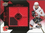 2008/09 Upper Deck Black Diamond Jerseys Quad Ruby #BDJDP Dion Phaneuf /100