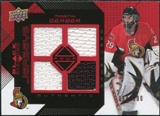 2008/09 Upper Deck Black Diamond Jerseys Quad Ruby #BDJGE Martin Gerber /100