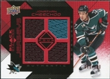 2008/09 Upper Deck Black Diamond Jerseys Quad Ruby #BDJJC Jonathan Cheechoo /100