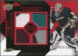 2008/09 Upper Deck Black Diamond Jerseys Quad Ruby #BDJJG Jean-Sebastien Giguere /100