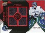 2008/09 Upper Deck Black Diamond Jerseys Quad Ruby #BDJRL Roberto Luongo /100