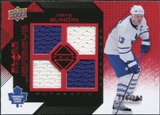 2008/09 Upper Deck Black Diamond Jerseys Quad Ruby #BDJSU Mats Sundin /100