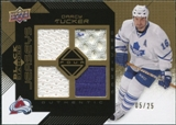 2008/09 Upper Deck Black Diamond Jerseys Quad Gold #BDJDT Darcy Tucker /25