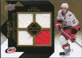 2008/09 Upper Deck Black Diamond Jerseys Quad Gold #BDJES Eric Staal 25/25