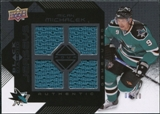 2008/09 Upper Deck Black Diamond Jerseys Quad Onyx #BDJMI Milan Michalek /10