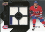 2008/09 Upper Deck Black Diamond Jerseys Quad Onyx #BDJMV Andrei Markov /10