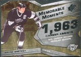 2008/09 Upper Deck SPx Memorable Moments #MMGR Wayne Gretzky