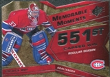 2008/09 Upper Deck SPx Memorable Moments #MMPR Patrick Roy