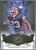 2008 Upper Deck Exquisite Collection #12 Marshawn Lynch /75