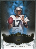 2008 Upper Deck Exquisite Collection #14 Jake Delhomme /75