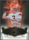 2008 Upper Deck Exquisite Collection #23 Derek Anderson /75