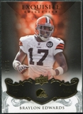 2008 Upper Deck Exquisite Collection #26 Braylon Edwards /75