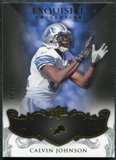 2008 Upper Deck Exquisite Collection #35 Calvin Johnson /75