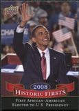 2009 Upper Deck Historic Firsts #HF1 Barack Obama