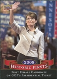 2009 Upper Deck Historic Firsts #HF4 First Woman to Run as VP on Republican Ticket