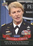 2009 Upper Deck Historic Firsts #HF10 Woman Becomes a Four-Star General