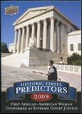 2009 Upper Deck Historic Predictors #HP4 1st African American Woman Supreme Court Justice