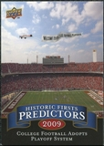 2009 Upper Deck Historic Predictors #HP7 College Football Goes to Playoff System
