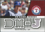 2009 Upper Deck UD Game Jersey #GJDM David Murphy