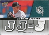 2009 Upper Deck UD Game Jersey #GJJJ Josh Johnson