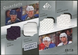 2008/09 SP Game Used Authentic Fabrics Quads Paul Kariya Keith Tkachuk David Perron Andy Wozniewski 8/10