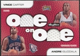 2008/09 SkyBox One on One Dual Memorabilia #OOCI Andre Iguodala Vince Carter