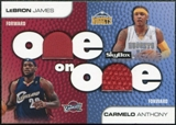 2008/09 SkyBox One on One Dual Memorabilia #OOJA Carmelo Anthony LeBron James