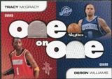 2008/09 SkyBox One on One Dual Memorabilia #OOMW Deron Williams Tracy McGrady