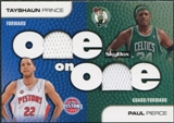 2008/09 SkyBox One on One Dual Memorabilia #OOPP Paul Pierce Tayshaun Prince
