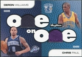 2008/09 SkyBox One on One Dual Memorabilia #OOPW Chris Paul Deron Williams