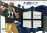 2008 Upper Deck Exquisite Collection Super Swatch Blue #SSBR Brian Brohm /20