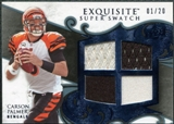 2008 Upper Deck Exquisite Collection Super Swatch Blue #SSCA Carson Palmer /20