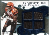 2008 Upper Deck Exquisite Collection Super Swatch Blue #SSCJ Chad Johnson /20