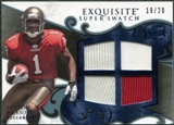 2008 Upper Deck Exquisite Collection Super Swatch Blue #SSDE Dexter Jackson /20