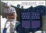 2008 Upper Deck Exquisite Collection Super Swatch Blue #SSJA Joseph Addai /20