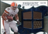 2008 Upper Deck Exquisite Collection Super Swatch Blue #SSLE Jamal Lewis /20