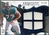 2008 Upper Deck Exquisite Collection Super Swatch Blue #SSLO Jake Long /20