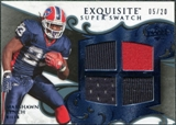 2008 Upper Deck Exquisite Collection Super Swatch Blue #SSML Marshawn Lynch /20