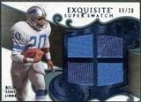 2008 Upper Deck Exquisite Collection Super Swatch Blue #SSSI Billy Sims /20
