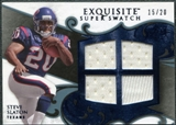 2008 Upper Deck Exquisite Collection Super Swatch Blue #SSSS Steve Slaton /20