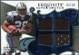 2008 Upper Deck Exquisite Collection Super Swatch Blue #SSST Jonathan Stewart /20