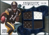 2008 Upper Deck Exquisite Collection Super Swatch Blue #SSSW Limas Sweed /20