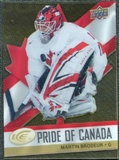 2008/09 Upper Deck Ice Pride of Canada #GOLD14 Martin Brodeur
