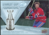 2008/09 Upper Deck Ice Stanley Cup Foundations #SCFLR Larry Robinson