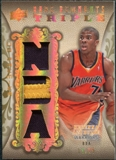 2008/09 Upper Deck Premier Rare Remnants Triple Patch NBA Logo #RR3KA Kelenna Azubuike /25