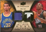 2008/09 Upper Deck Premier Rare Patch Dual #RP2YW Brandan Wright Thaddeus Young /50