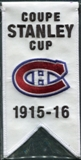 2008/09 Upper Deck Montreal Canadiens Mini Banners 1915-16 Stanley Cup