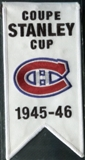 2008/09 Upper Deck Montreal Canadiens Mini Banners 1945-46 Stanley Cup